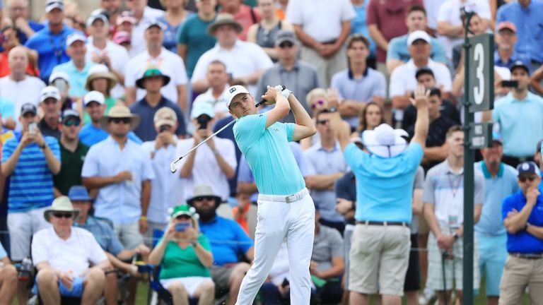 Jordan Spieth's 65 swept him into the top 10 early in day three