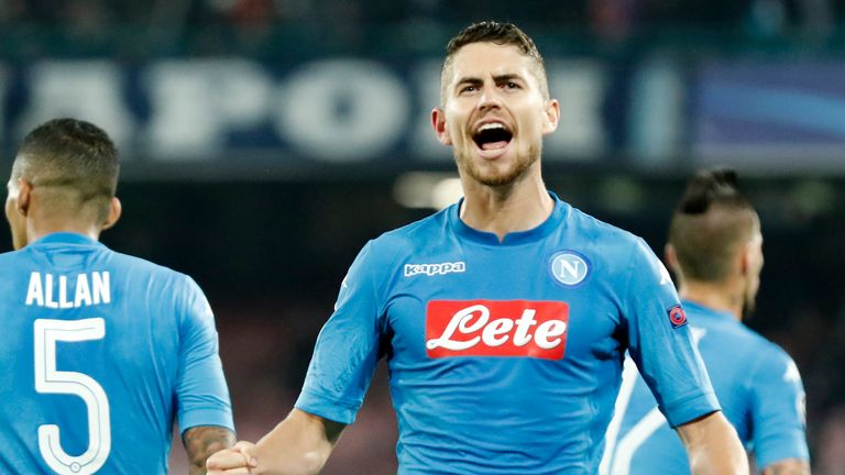 Napoli midfielder Jorginho has again been linked with Man City