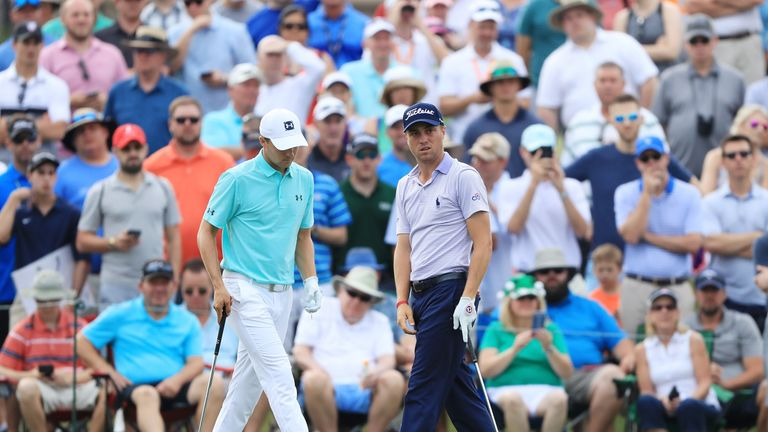 Spieth played with Justin Thomas for the third day running