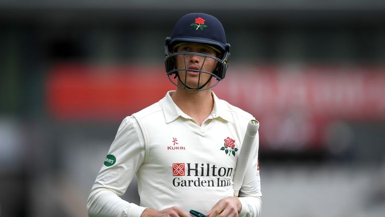 Keaton Jennings walks off having made an impressive ton at Trent Bridge