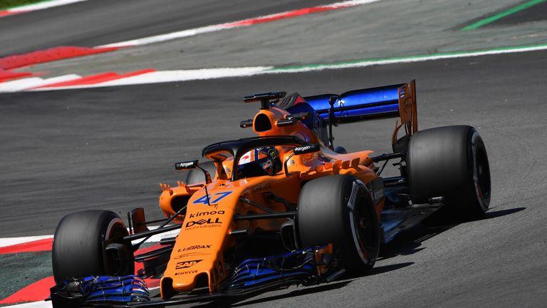 Norris in the McLaren