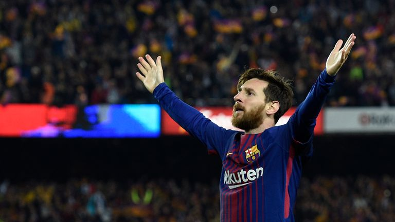 Lionel Messi scored Barcelona's second