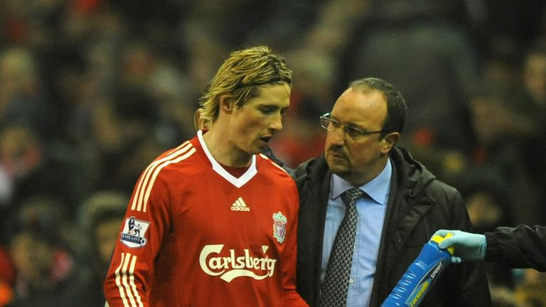 Fernando Torres scored 72 goals in 116 games for Liverpool under Rafa Benitez