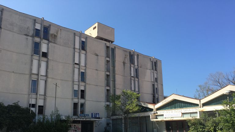 The Hotel Iz in Zadar where Modric grew up as a refugee