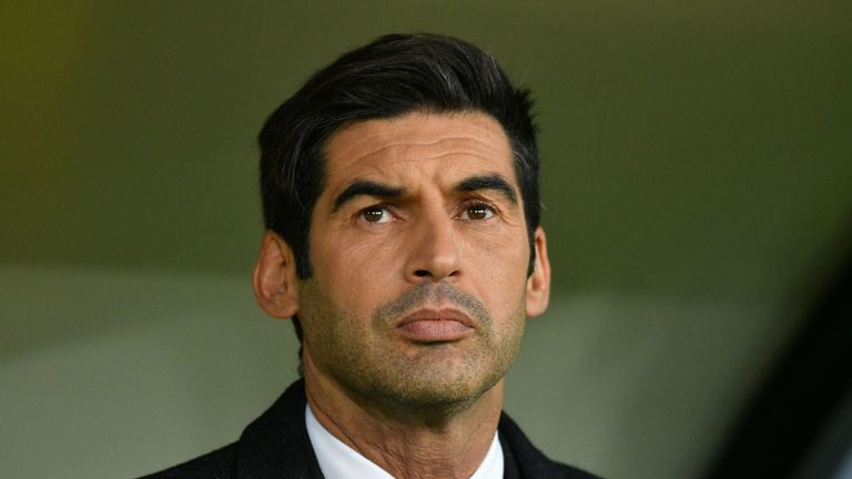 Shakhtar Donetsk manager Paulo Fonesca is being linked to West Ham