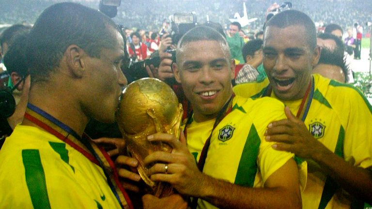 Ronaldo has won the World Cup twice with Brazil