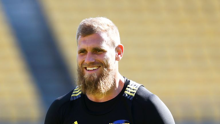 England's Brad Shields is one of two internationals in the Hurricanes' forward pack