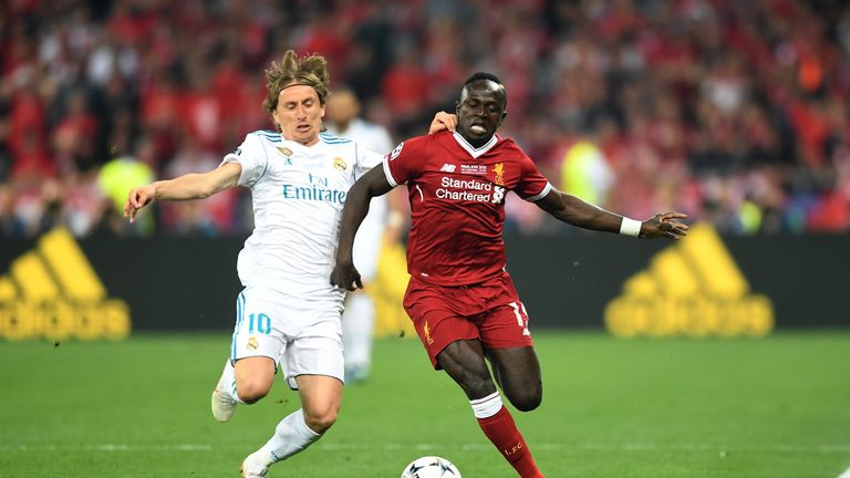 Mane scored against Real Madrid in the Champions League final