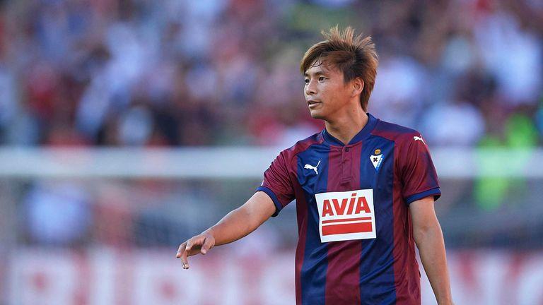 Takashi Inui scored during Eibar's 4-1 thrashing of Girona