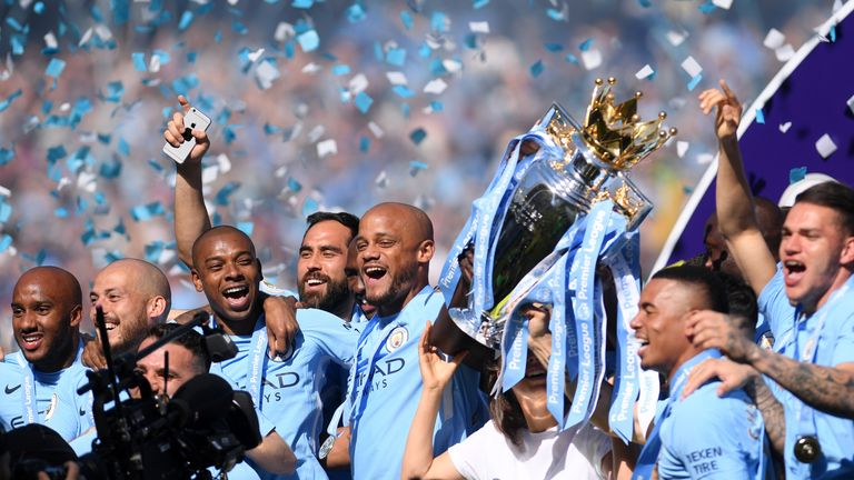 Manchester City were crowned Premier League champions for the first time in four years