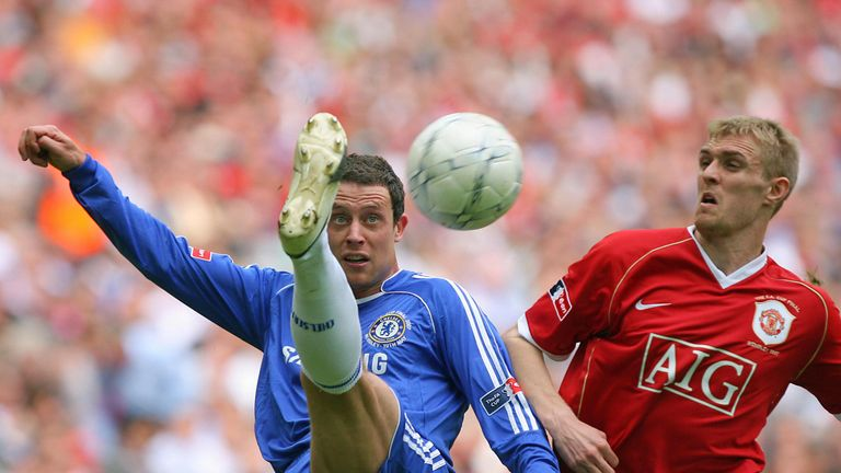 Wayne Bridge in action against Manchester United in the 2007 FA Cup final