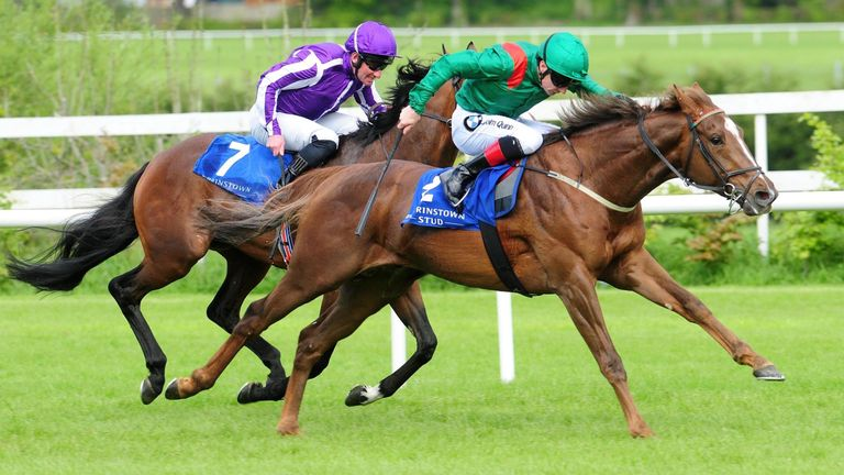 Hazapour  wins the Derrinstown Stud Trial at Leopardstown