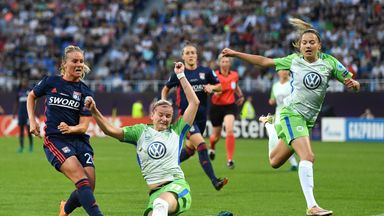 Amandine Henry rifles Lyon's equaliser as they came from a goal down to clinch a fifth Women's Champions League title