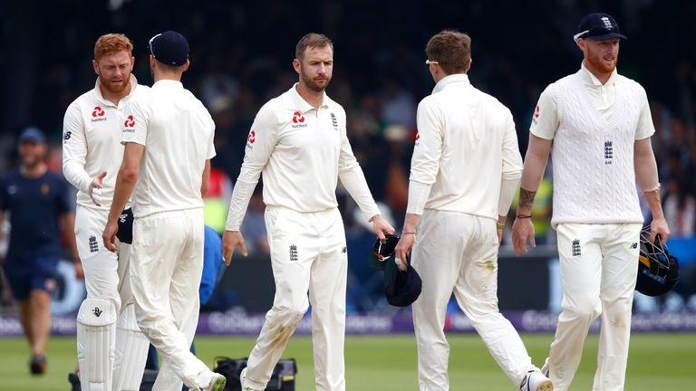 during day four of the 1st Test match between England and Pakistan at Lord's Cricket Ground on May 27, 2018 in London, England.