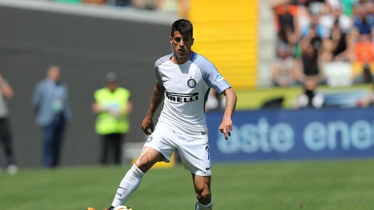 Joao Cancelo in action for Inter Milan, on loan from Valencia.