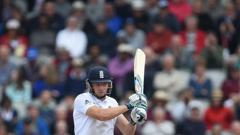 Jos Buttler at Old Trafford on August 9, 2014 in Manchester, England.