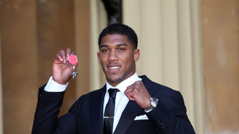 An MBE was awarded to Joshua after his Olympic triumph