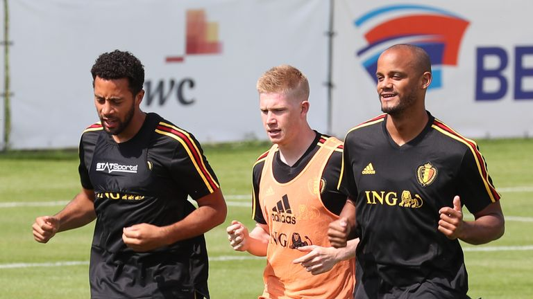 Belgium have included Vincent Kompany, despite his race to be fit