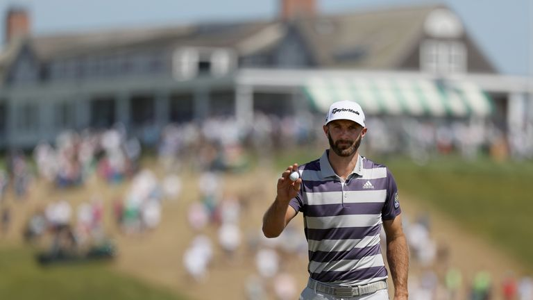Johnson posted four bogeys in a five-hole stretch