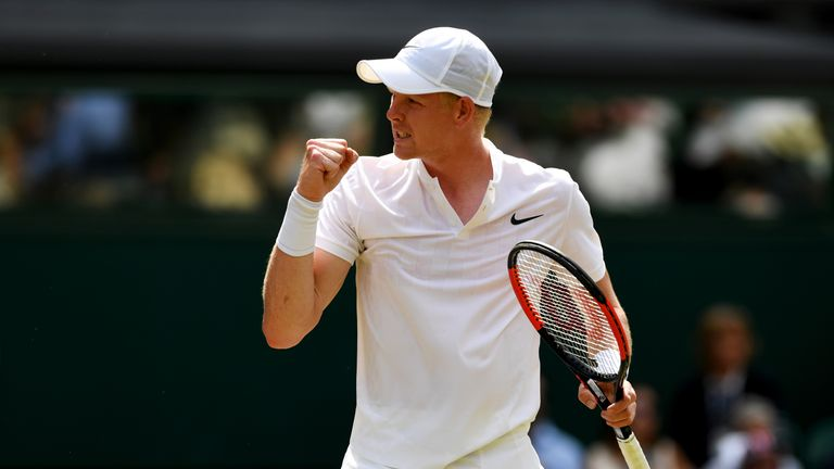 Kyle Edmund lost to Gael Monfils in the Wimbledon second round last year