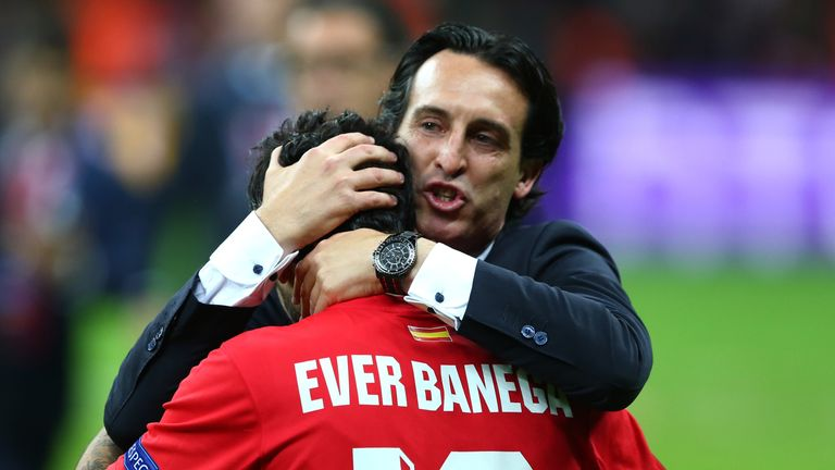 Unai Emery coached Banega while at Sevilla
