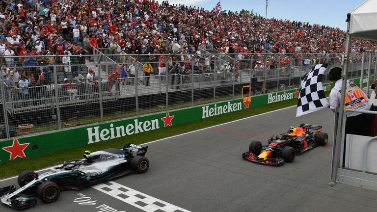 Watch supermodel wave checkered flag lap early at Canadian Grand Prix