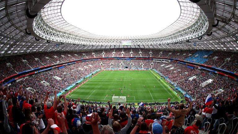 Moscow's Luzhniki Stadium became the first World Cup venue to play host to VAR