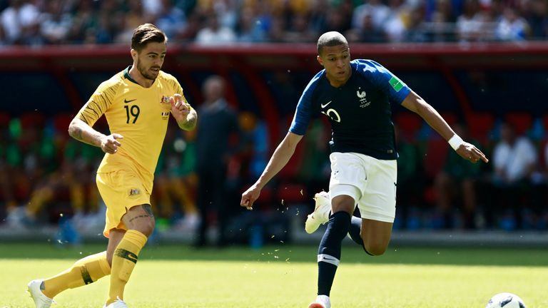 Kylian Mbappe was France's main threat but did not get much support