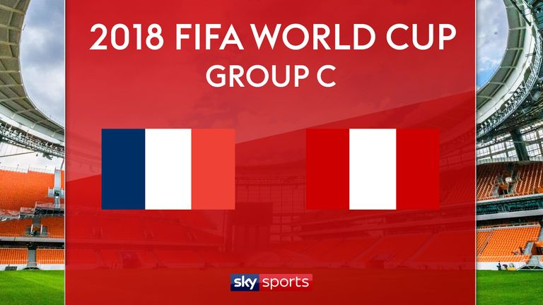 France v Peru will kick off at 4pm