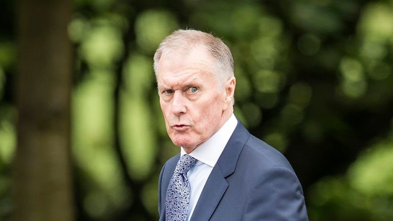 Geoff Hurst was among the 1966 World Cup winners to attend Ray Wilson's funeral