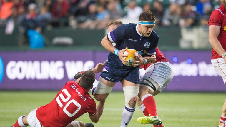 George Turner is the first Scotland player in 11 years to score a try hat-trick
