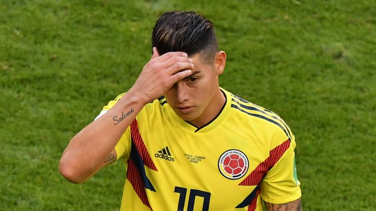 James Rodriguez hobbled out of Colombia's win over Senegal last week