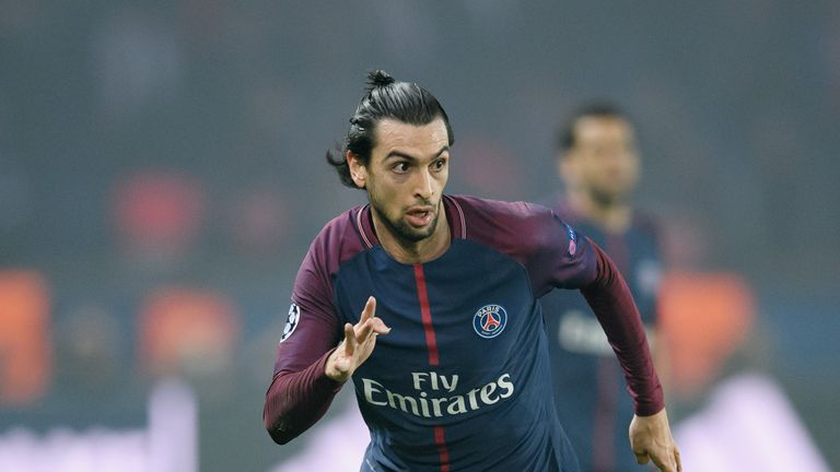 Paris Saint-Germain midfielder Javier Pastore could be set for a move to the London Stadium