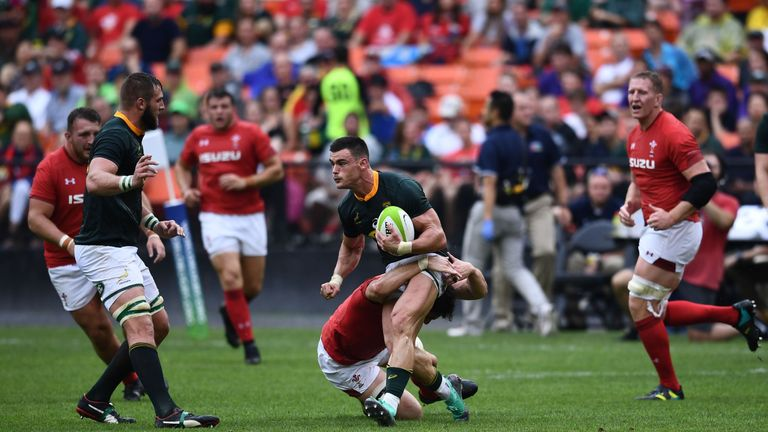 Jesse Kriel on the attack for the Springboks