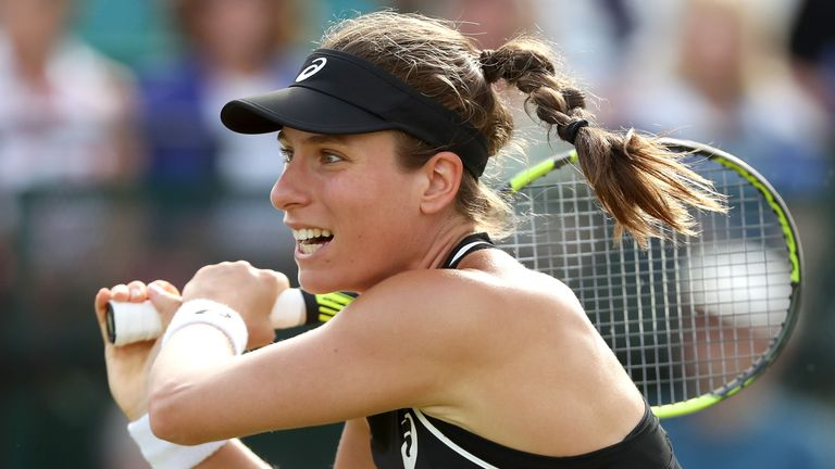 Konta gains revenge on Vekic to reach Nottingham final