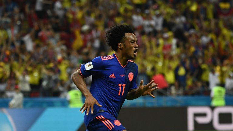 Cuadrado's goal capped off a dominant Colombia display