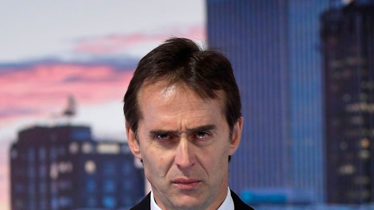 Lopetegui was sacked by the Spanish Football Federation on Wednesday