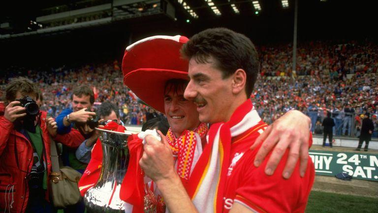 Dalglish (left) with Ian Rush (right) at Wembley