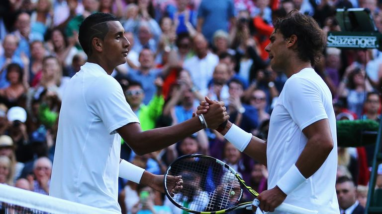 Nick Kyrgios caused a huge surprise with victory against Rafael Nadal in 2014
