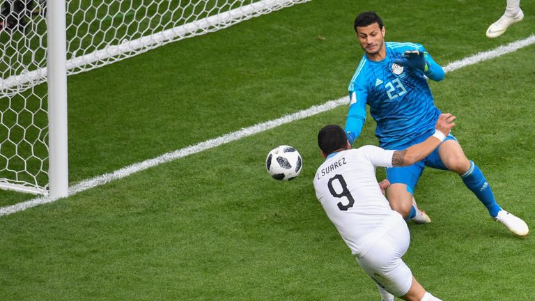 Suarez missed three clear chances for Uruguay