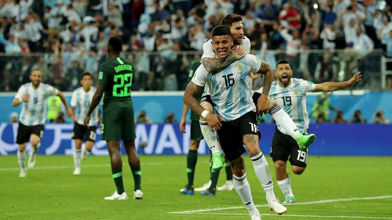 Marcos Rojo scored the winning goal for Argentina on Tuesday