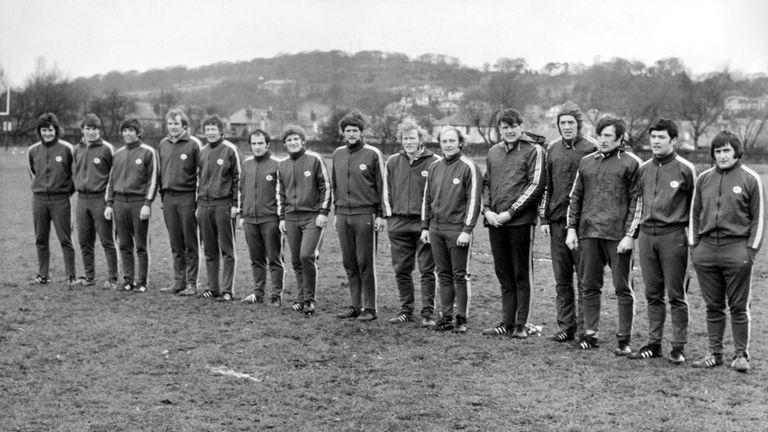 Nairn MacEwan (centre) won 20 caps for Scotland