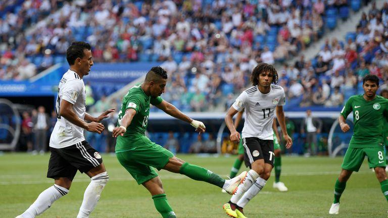Salem Aldawsari scored an injury-time winner to hand Saudi Arabia all three points against Egypt