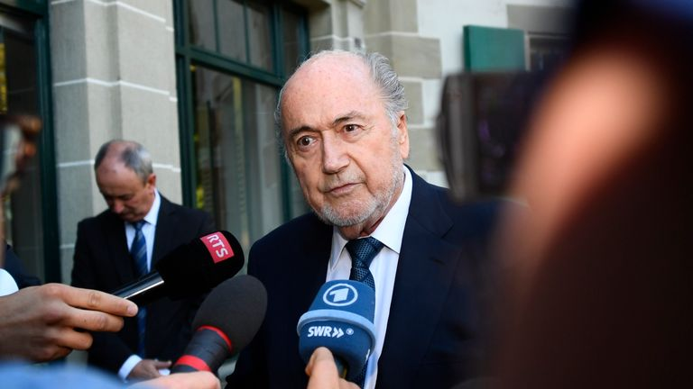 Banned Sepp Blatter attends football match, says 'It is my World Cup'