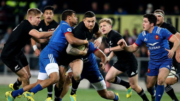 Sonny Bill Williams was in action for the All Blacks against France in June