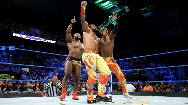 The New Day are yet to choose which one of their faction will enter the ladder match