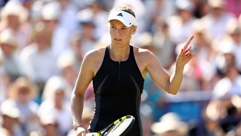 Wozniacki battles past Kerber into Eastbourne final