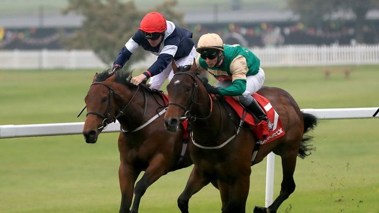 Vintage Brut winning the National Stakes