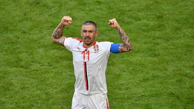 Aleksandar Kolarov celebrates his winner against Costa Rica