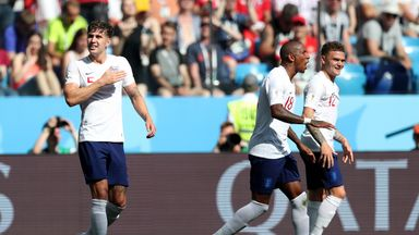 John Stones scored his first - and second - England goals
